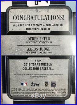 2019 Topps Museum Derek Jeter/Aaron Judge Dual Auto New York Yankees #1/5