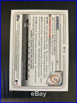 2020 Bowman 1st Edition Baseball Jasson Dominguez Sky Blue Foil