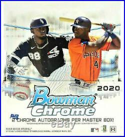 2020 Bowman Chrome Baseball Factory Sealed Hobby Box 2 Autos! QTY DEALS