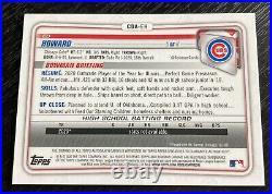 2020 Bowman Chrome Draft Ed Howard Purple Refractor Auto # 111/250 Cubs #1 Pick