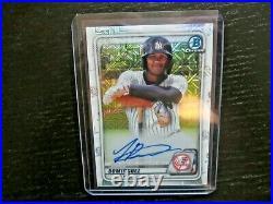 2020 Bowman Chrome JASSON DOMINGUEZ Mojo Refractor ON CARD AUTO RC Yankees