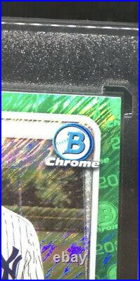 2020 Bowman Chrome Jasson Dominguez Green Shimmer Auto #99 Autograph Hot