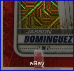 2020 Bowman Chrome Mega Box 1st JASSON DOMINGUEZ RC Mojo Refractor RED 4/5 RARE