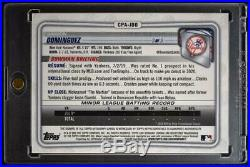 2020 Bowman Chrome Prospect Auto Gold #CPA-JDO Jasson Dominguez /50 Yankees