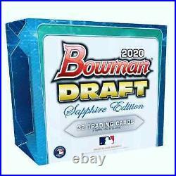 2020 Bowman Draft Sapphire Baseball Hobby Box Brand New Free Priority Ship