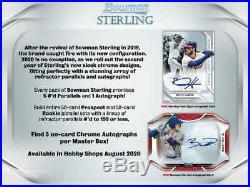 2020 Bowman Sterling Baseball Factory Sealed Hobby Box Pre Sale