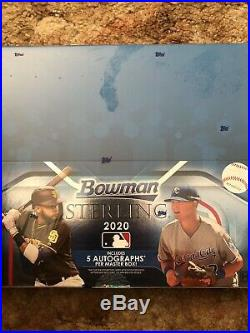 2020 Bowman Sterling Factory Sealed Hobby Box 5 Autographs