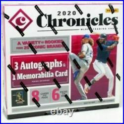 2020 Panini Chronicles Baseball Factory Sealed Hobby Box
