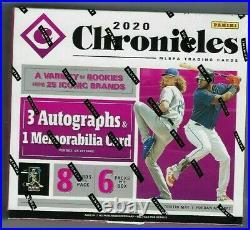 2020 Panini Chronicles Baseball Hobby Box FACTORY SEALED 3 AUTO 1 RELIC