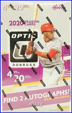 2020 Panini Donruss Optic Baseball Factory Sealed Hobby Box