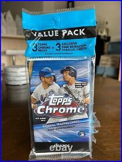 2020 TOPPS CHROME MLB BASEBALL VALUE PACK Lot of 6 SEALED PINK PARALLELS