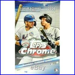 2020 Topps CHROME Baseball HOBBY Box Factory Sealed FREE PRIORITY SHIPPING