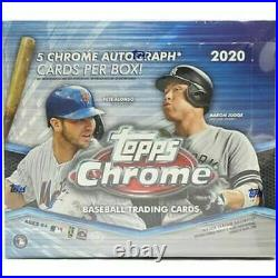 2020 Topps Chrome Baseball Factory Sealed HTA Jumbo Box