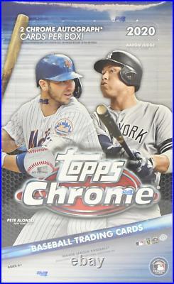 2020 Topps Chrome Baseball Factory Sealed Hobby Box 2 Autos
