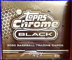 2020 Topps Chrome Black Baseball Mlb Factory Sealed Hobby Box
