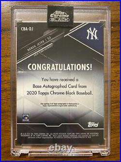 2020 Topps Chrome Black Derek Jeter Encased Autograph Yankees Base Auto