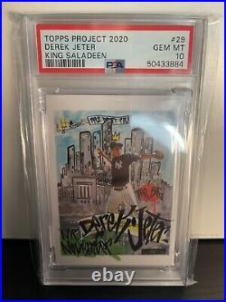 2020 Topps Project 2020 Derek Jeter/King Saladeen #29 PSA 10 New York Yankees