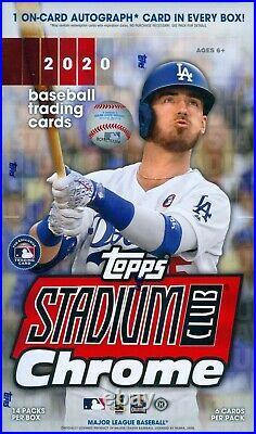 2020 Topps Stadium Club Chrome Baseball Factory Sealed Hobby Box