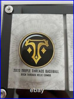 2020 Topps Triple Threads Deca Threads Relic Book Booklet /10 Aaron Mays Griffey