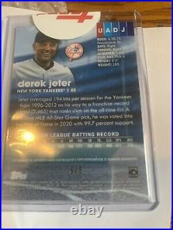 2020 topps stadium club chrome Derek jeter Auto Card