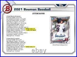 2021 Bowman Baseball Hobby Box Brand New Sealed Free Priority Shipping