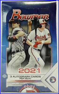 2021 Bowman Baseball Jumbo Hta Hobby Box Brand New Sealed Free Priority Shipping