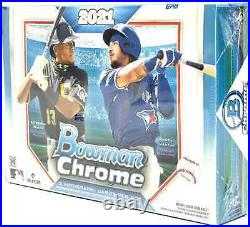 2021 Bowman Chrome Baseball Hta Choice Box Brand New Free Priority Shipping