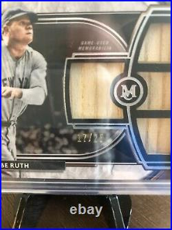 2021 Museum Collection Baseball Babe Ruth Game Used Quad Bat Relic 17/25