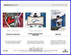 2021 Panini Absolute Baseball Hobby Box Brand New Sealed Free Priority Shipping