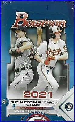 2021 Topps Bowman Baseball HOBBY BOX FACTORY SEALED 1 AUTO