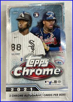 2021 Topps Chrome Baseball Hobby Box Brand New