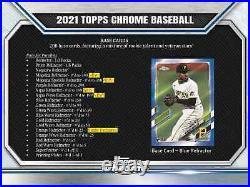 2021 Topps Chrome Baseball Hobby Box Brand New Free Priority Shipping