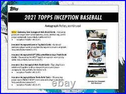 2021 Topps Inception Baseball Hobby Box Brand New And Free Priority Shipping