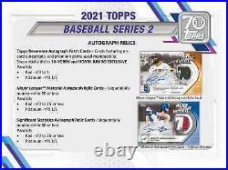 2021 Topps Series 2 Baseball Jumbo Hta Box New Sealed Free Priority Shipping