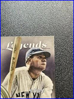 2021 Topps Tier One Babe Ruth Legends Game Used Bat Relic Card 11/49