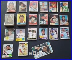 300 + Vintage Baseball Card Lot (Mantle, Mays, Koufax, Banks, Rose, Clemente)