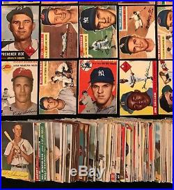 301 card 1952 1956 Topps lot. Mickey Mantle 135 1955 Hank Aaron 47 1954 Bowman