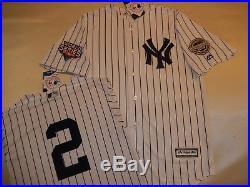 7907 New York Yankees DEREK JETER 2009 WORLD SERIES Baseball Jersey WHITE New
