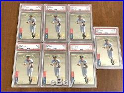 (7) 1993 Upper Deck SP Foil Derek Jeter ROOKIE RC Card PSA Lot 3-day Auction