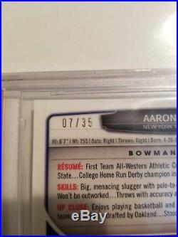 AARON JUDGE 2013 Bowman Chrome Black Refractor #/35 BGS 9.5 /10 Auto