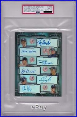 AARON JUDGE 2013 Bowman Sterling 5x7 NY YANKEES AUTO PSA/DNA 10 withT. Austin #/20