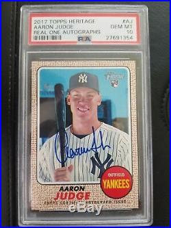 AARON JUDGE 2017 Topps Heritage Real Ones Rookie Card RC Auto Autograph PSA 10