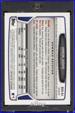 AARON JUDGE AUTO 2013 Bowman Chrome Draft REFRACTOR #BCA-AJ Rookie Card RC ROY