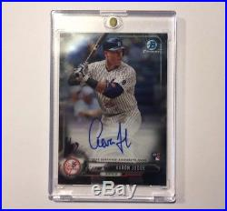 Aaron Judge 2017 Bowman Chrome Rc Rookie Autograph Sp Auto