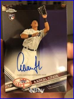 Aaron Judge AUTO RC 2017 Topps Chrome On Card Auto #RA-AJ New York Yankees