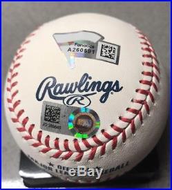 Aaron Judge signed 2017 Home Run Derby Autographed MLB baseball Yankees FANATICS