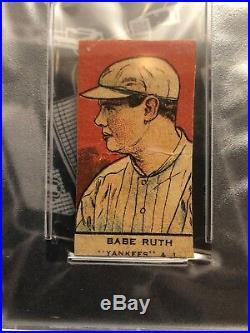 BABE RUTH 1921 W551 Hand Cut PSA