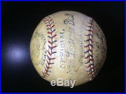 BABE RUTH Autographed 1927 Baseball New York Yankees PSA A99036