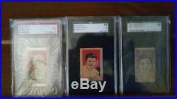 BABE RUTH LOT! PSA 7 1921 W551, SGC 7 1923 W515, SGC NM 1926 W512, Goudey RARE