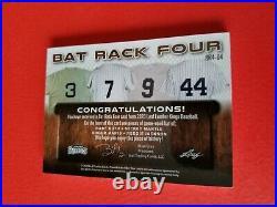 BABE RUTH Mickey Mantle ROGER MARIS REGGIE JACKSON GAME USED BAT CARD #d2/6 LEAF